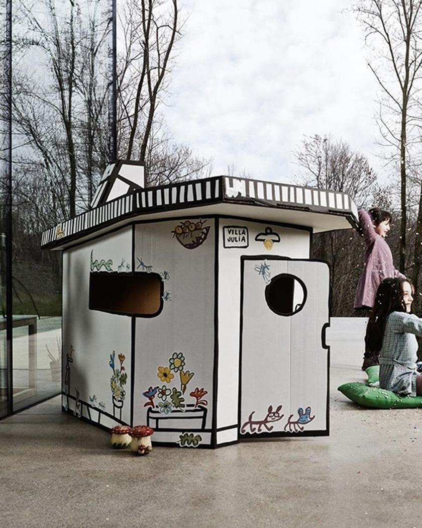 cabane en carton enfant kidsonroof