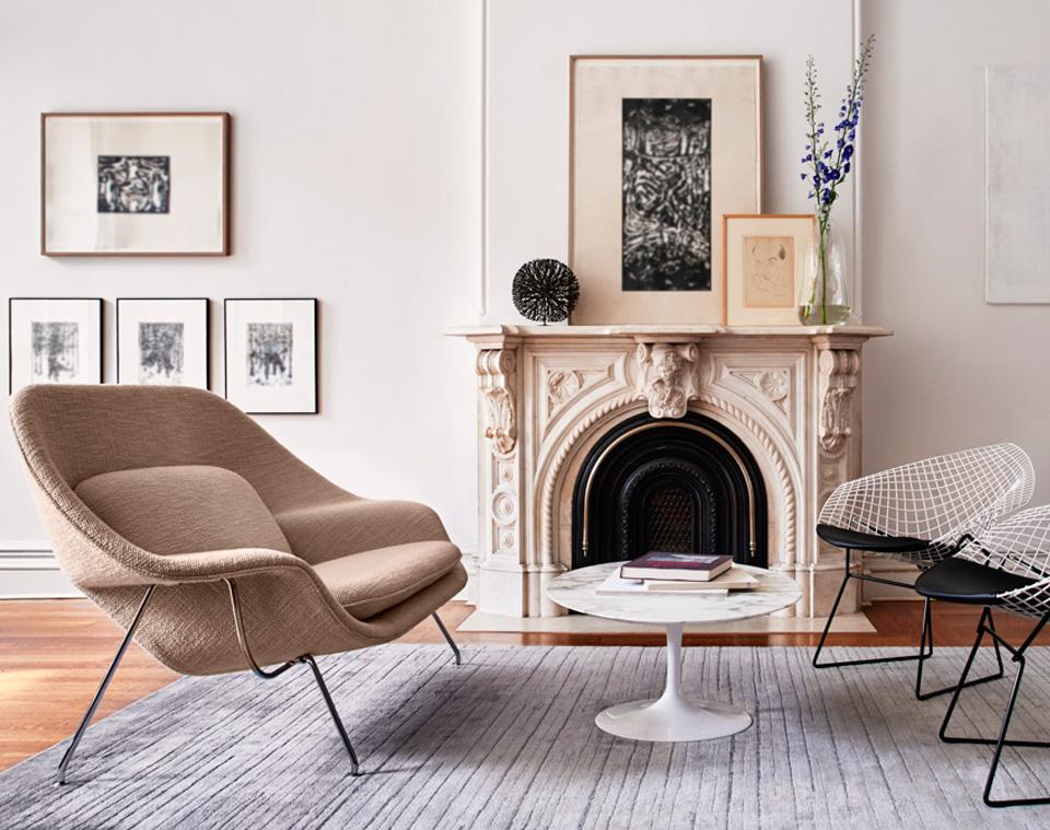chaise diamond chair bertoia noir