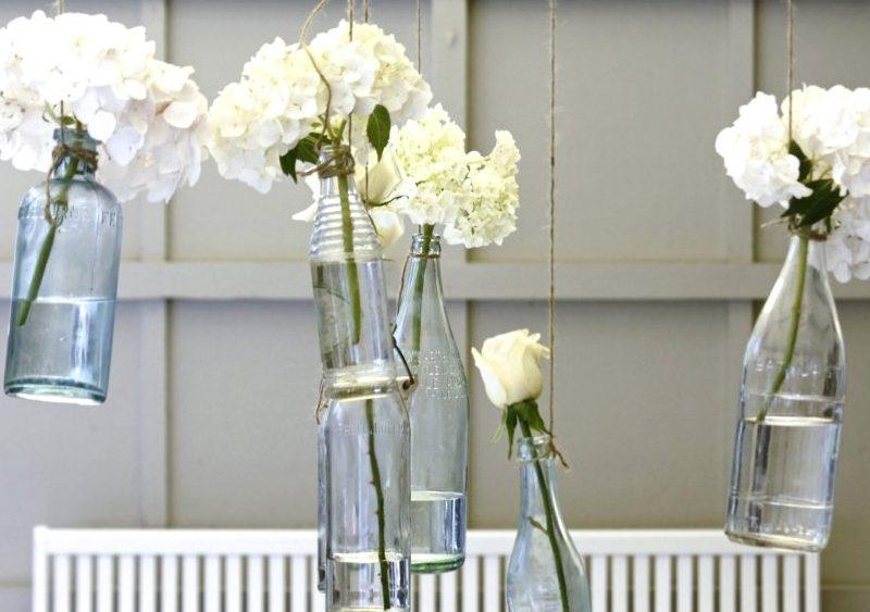 vase bouteille suspendue diy