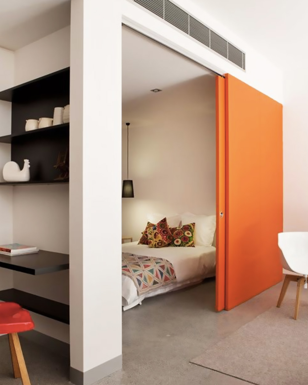 une d co en orange et gris shake my blog. Black Bedroom Furniture Sets. Home Design Ideas