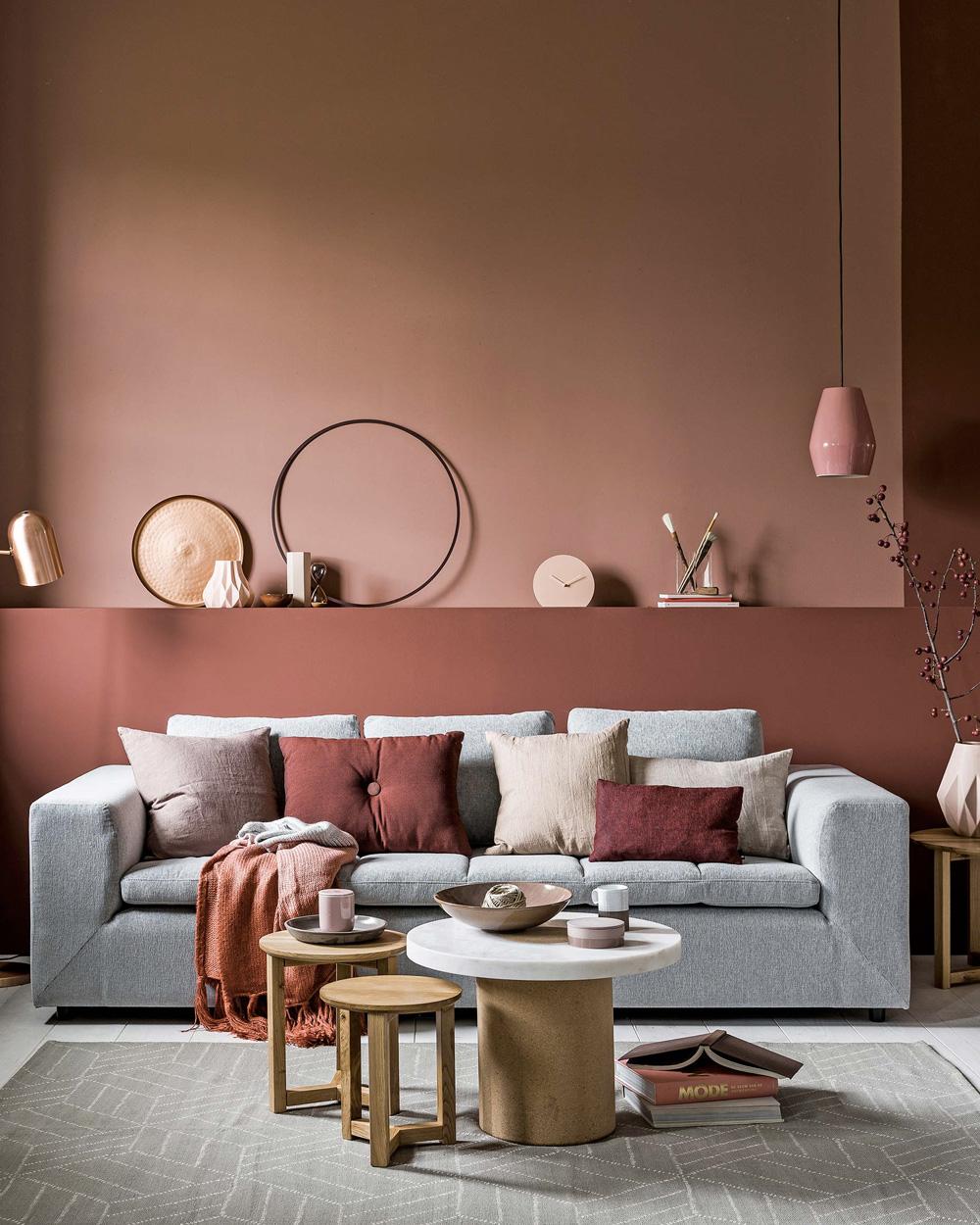 deco orange violet rose salon