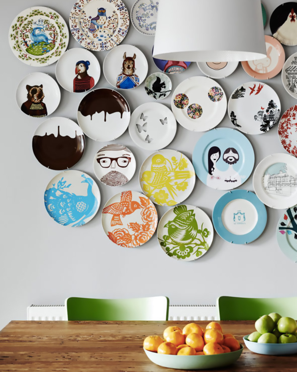 Des assiettes ikea sur vos murs shake my blog - Platos decorativos pared ...