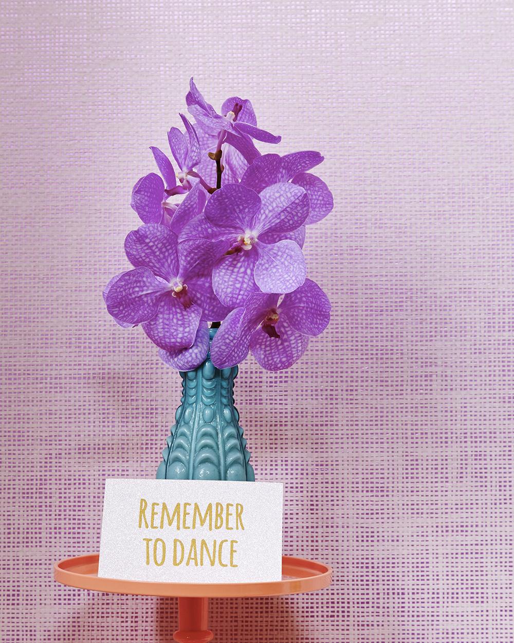 deco bouquet de fleur violet rice
