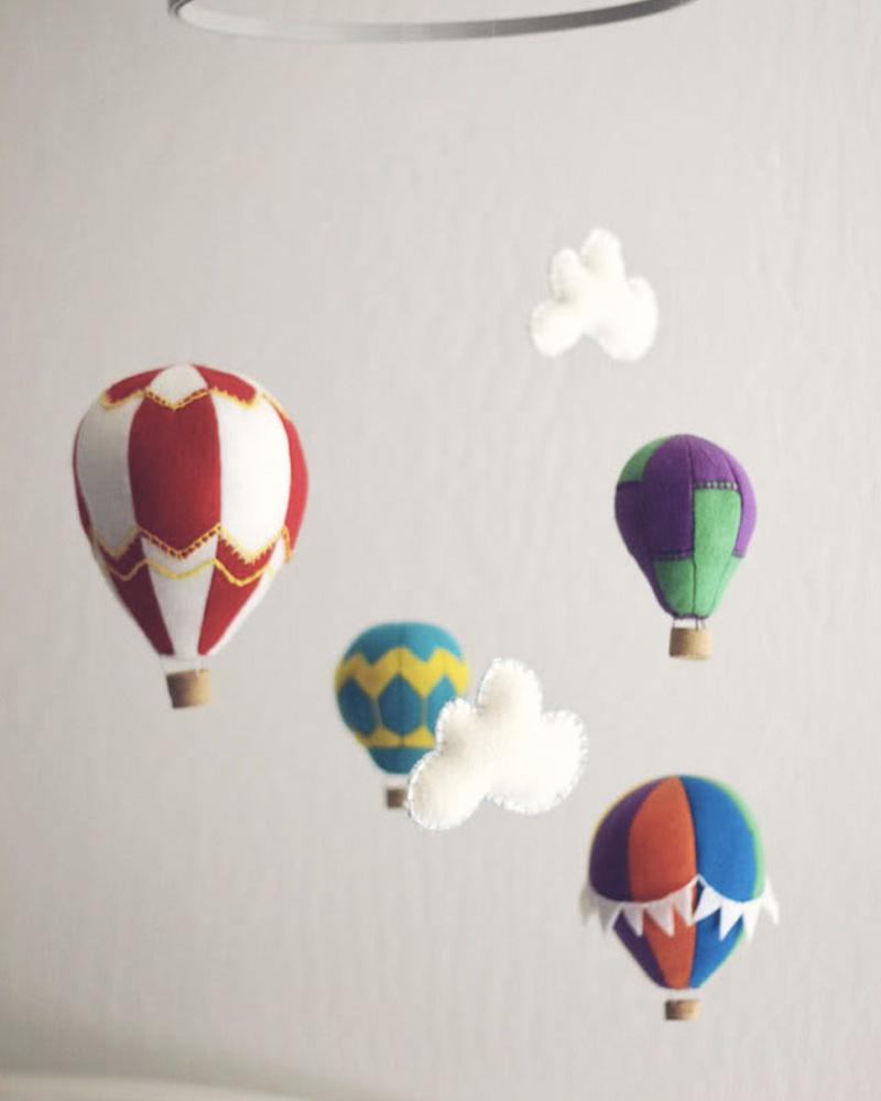 mobile montgolfière diy
