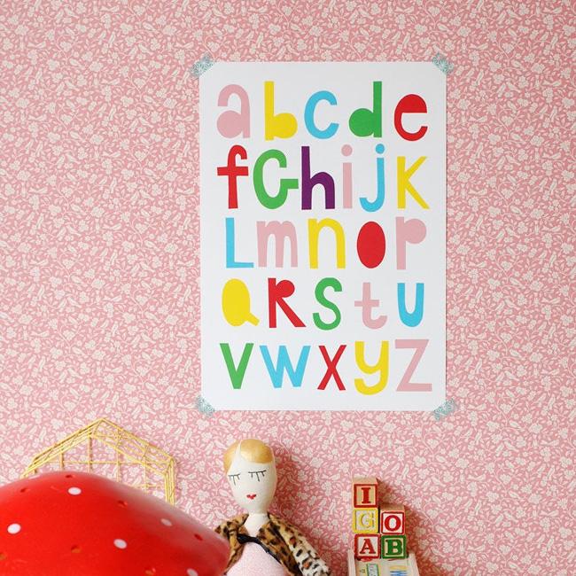 etsy nina in vorm affiche alphabet