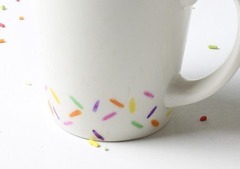 mug coloré diy