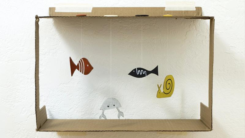 aquarium carton diy enfant
