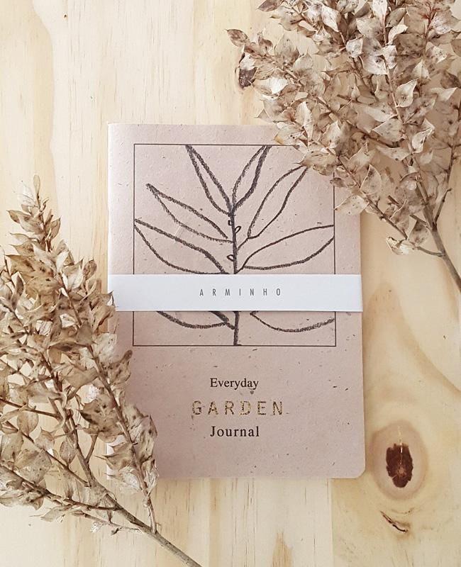 etsy arminho carnet journal jardinage