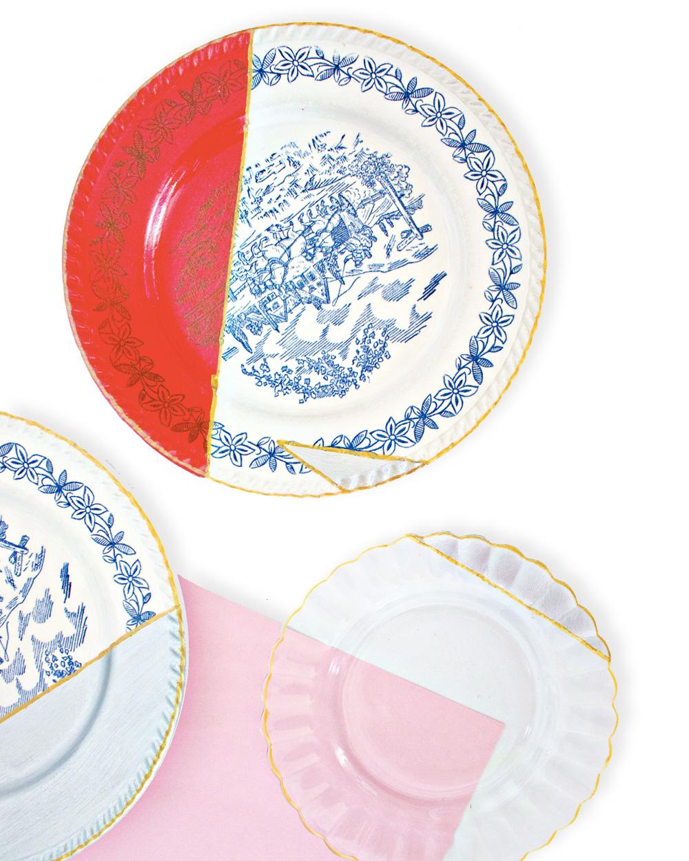 assiette vintage peinture diy