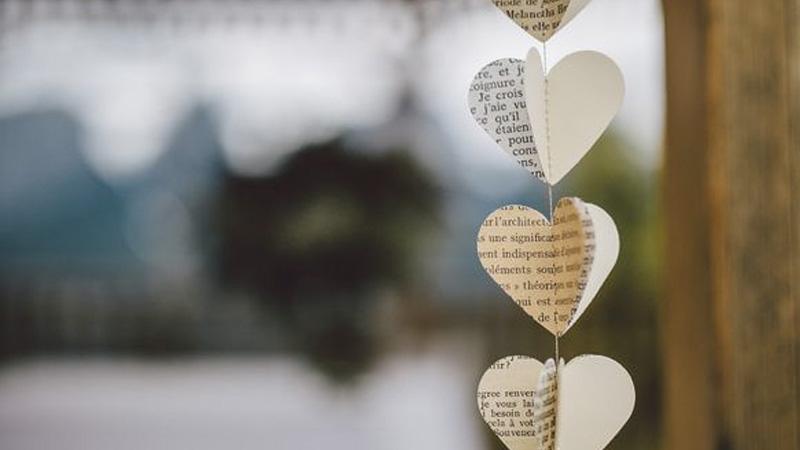 guirlande livre diy mariage