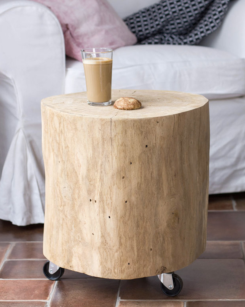 table basse bûche diy