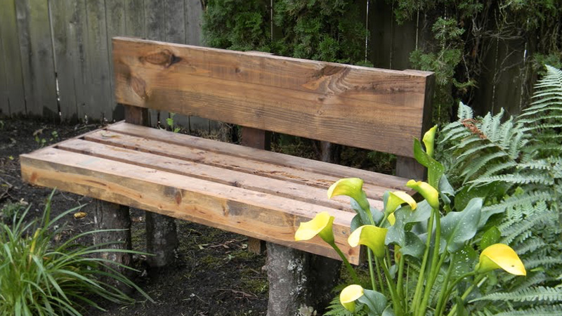 banc jardin bois diy