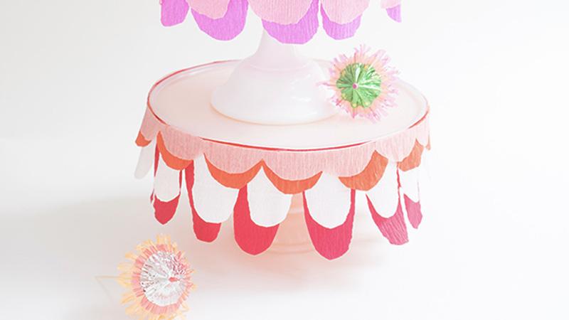 cakestand coloré diy