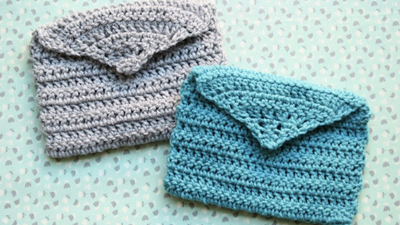 enveloppe crochet diy