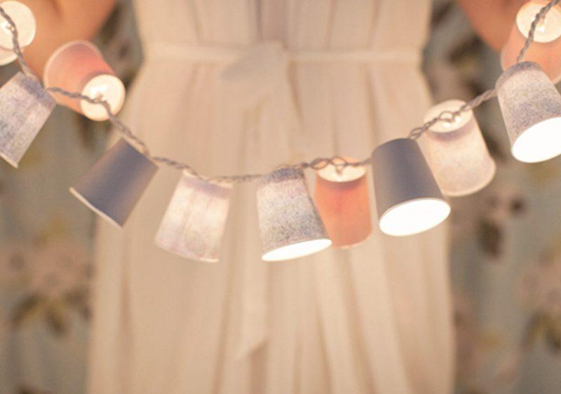 guirlande lumineuse diy gobelet