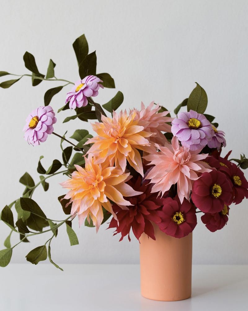 bouquet fleur papier diy