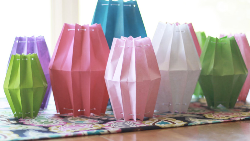 lanterne papier diy