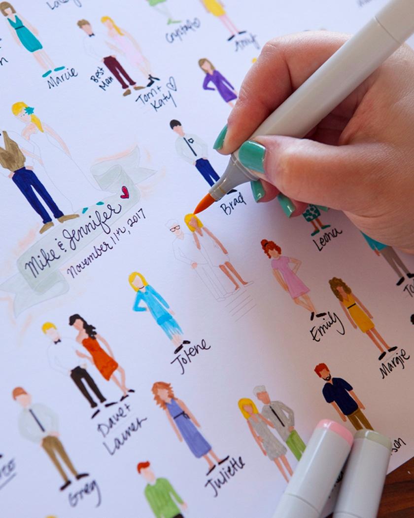 livre or mariage original diy coloriage