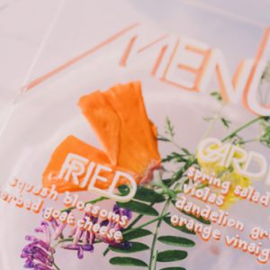 menu diy mariage