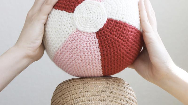 ballon plage crochet diy
