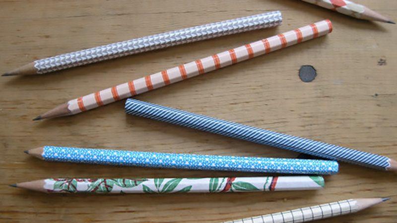 crayon motif diy