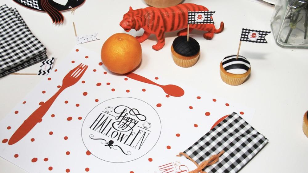 printable deco table halloween