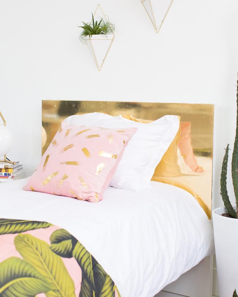 une t te de lit dor e diy shake my blog. Black Bedroom Furniture Sets. Home Design Ideas
