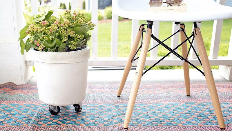 bac roulette beton diy plante jardiniere