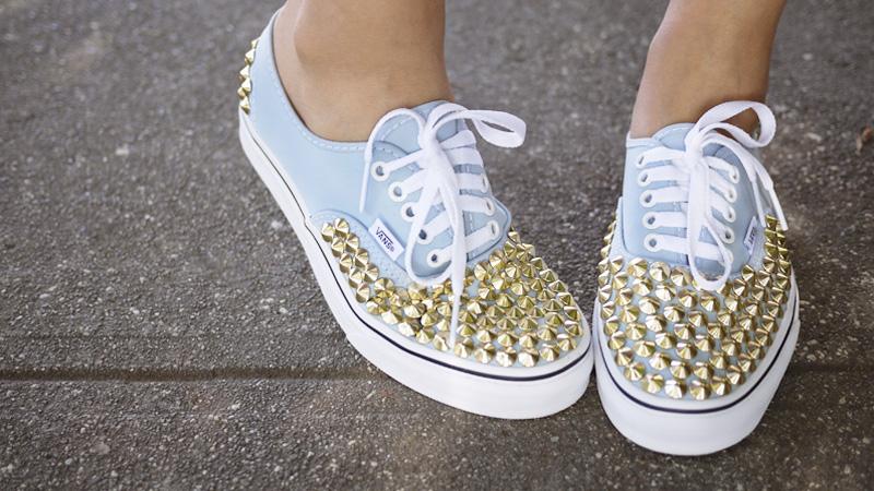 chaussure clou diy