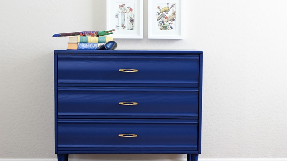 peindre commode bleue diy