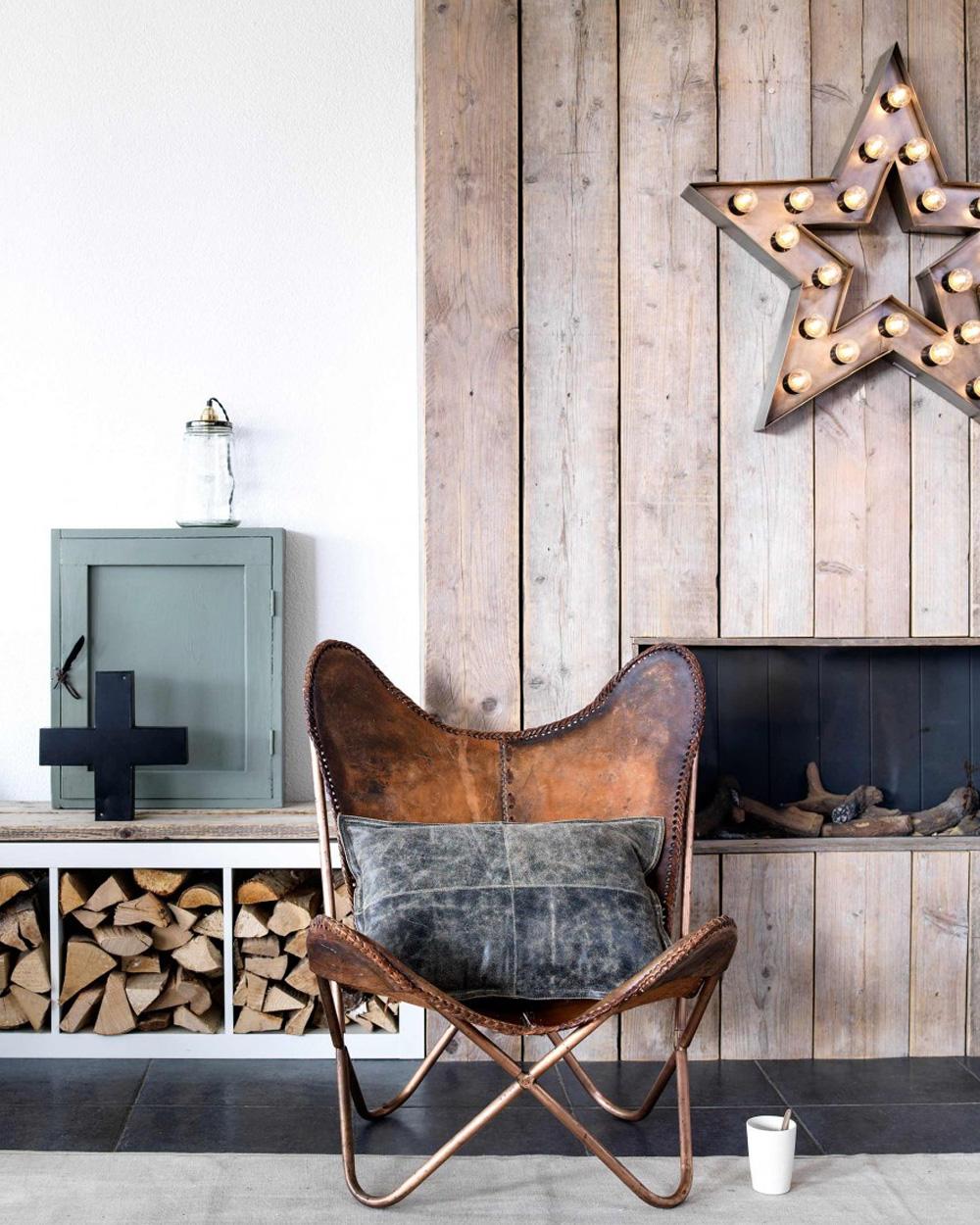 fauteuil en cuir maison industrielle