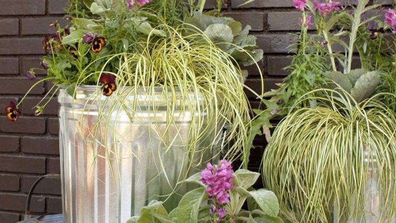 poubelle jardinière diy