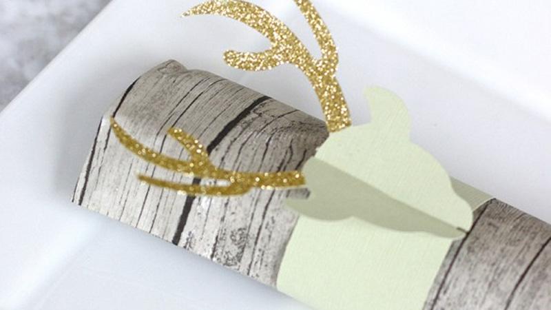 un rond de serviette diy paillettes pour no l shake my blog. Black Bedroom Furniture Sets. Home Design Ideas