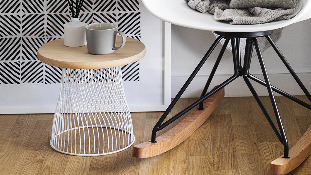 table appoint diy corbeille metal
