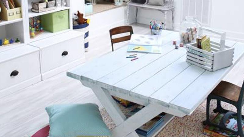 table dessin enfant diy