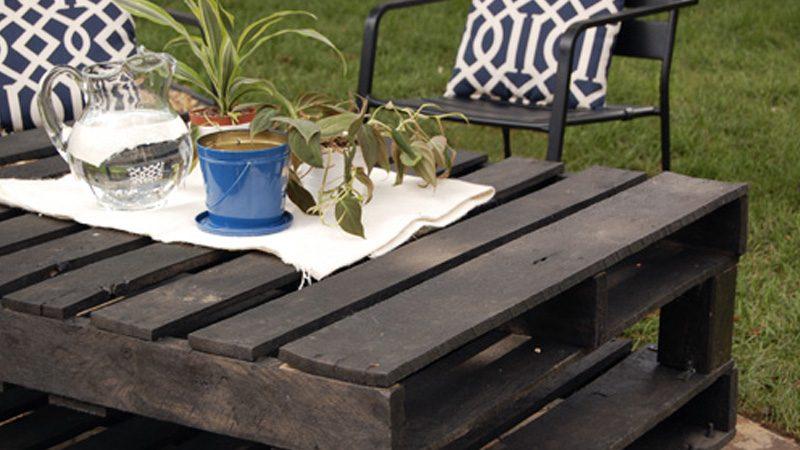 table diy jardin palette