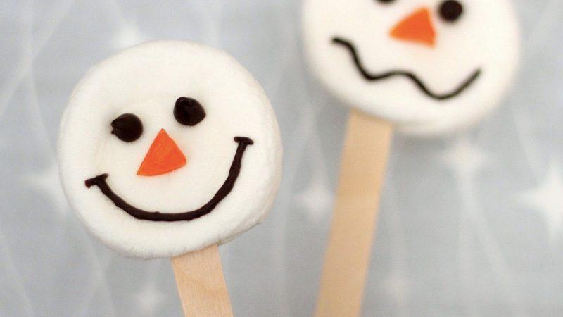 marshmallow diy bonhomme de neige noel