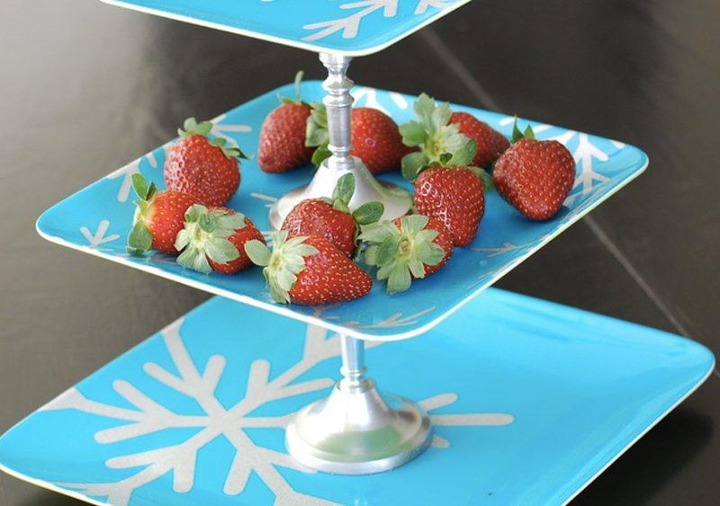 cakestand hiver diy