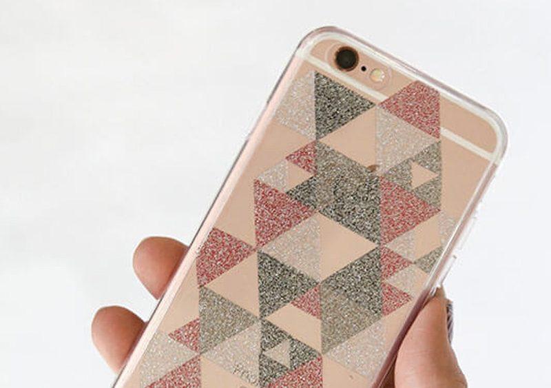 coque iPhone paillette diy