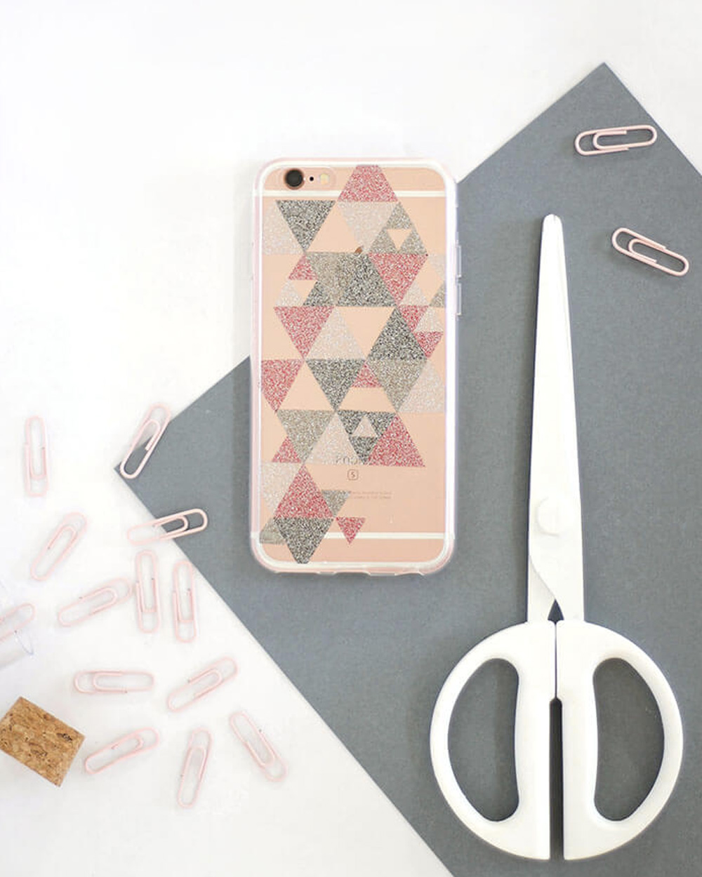 coque iPhone paillette diy