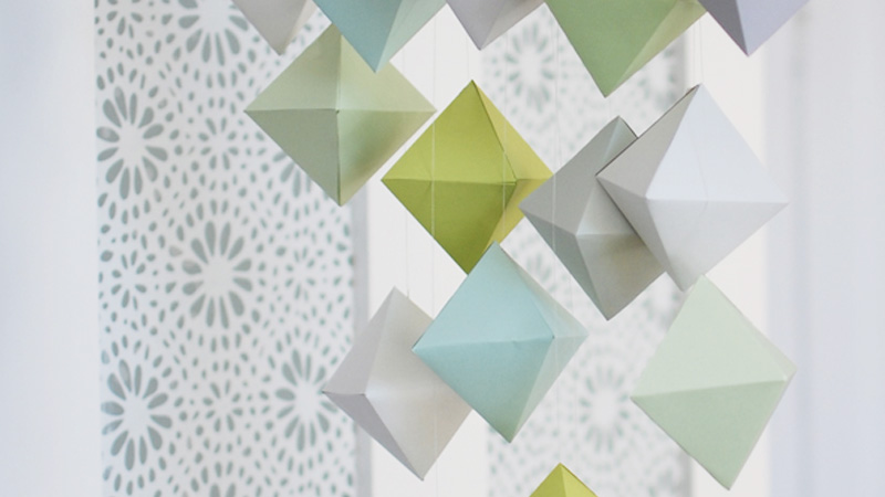 mobile cube papier diy