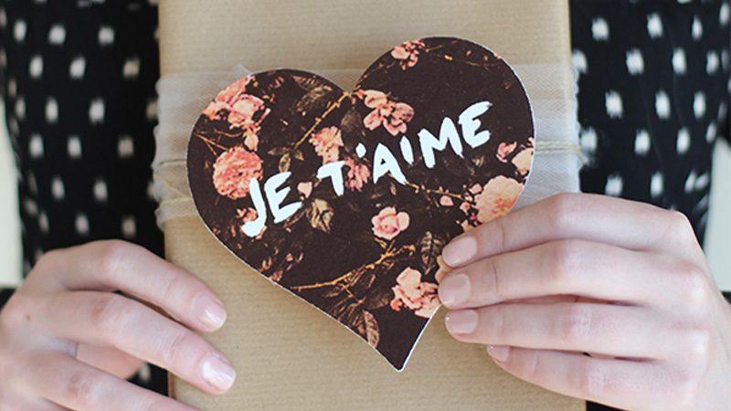 carte fleur diy saint valentin