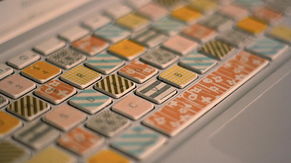 clavier making tape diy