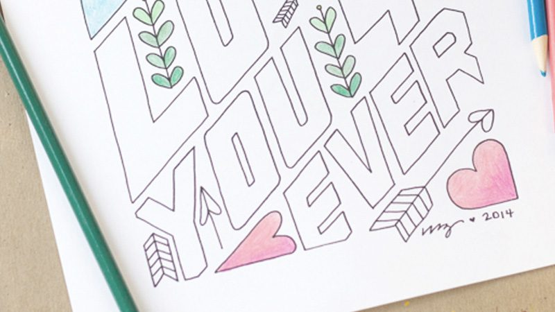 coloriage diy saint valentin