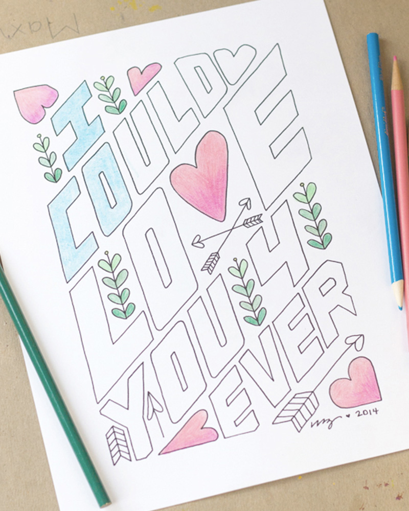 coloriage diy saint valentin