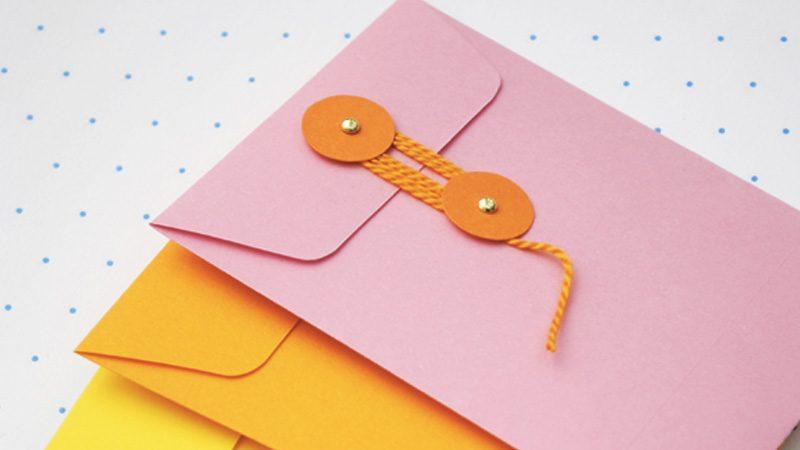enveloppe colorée vintage diy