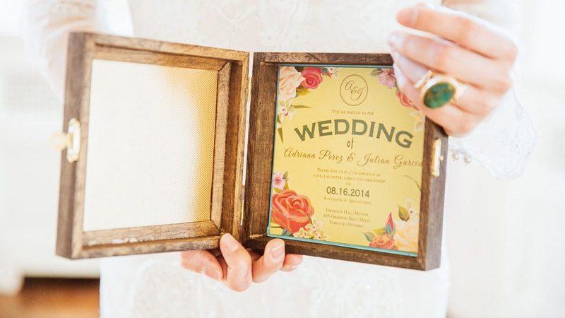 faire part mariage boite diy