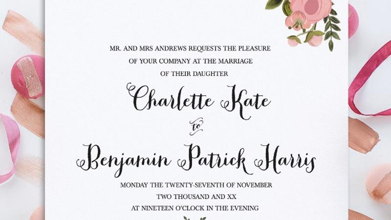 faire part mariage a imprimer diy