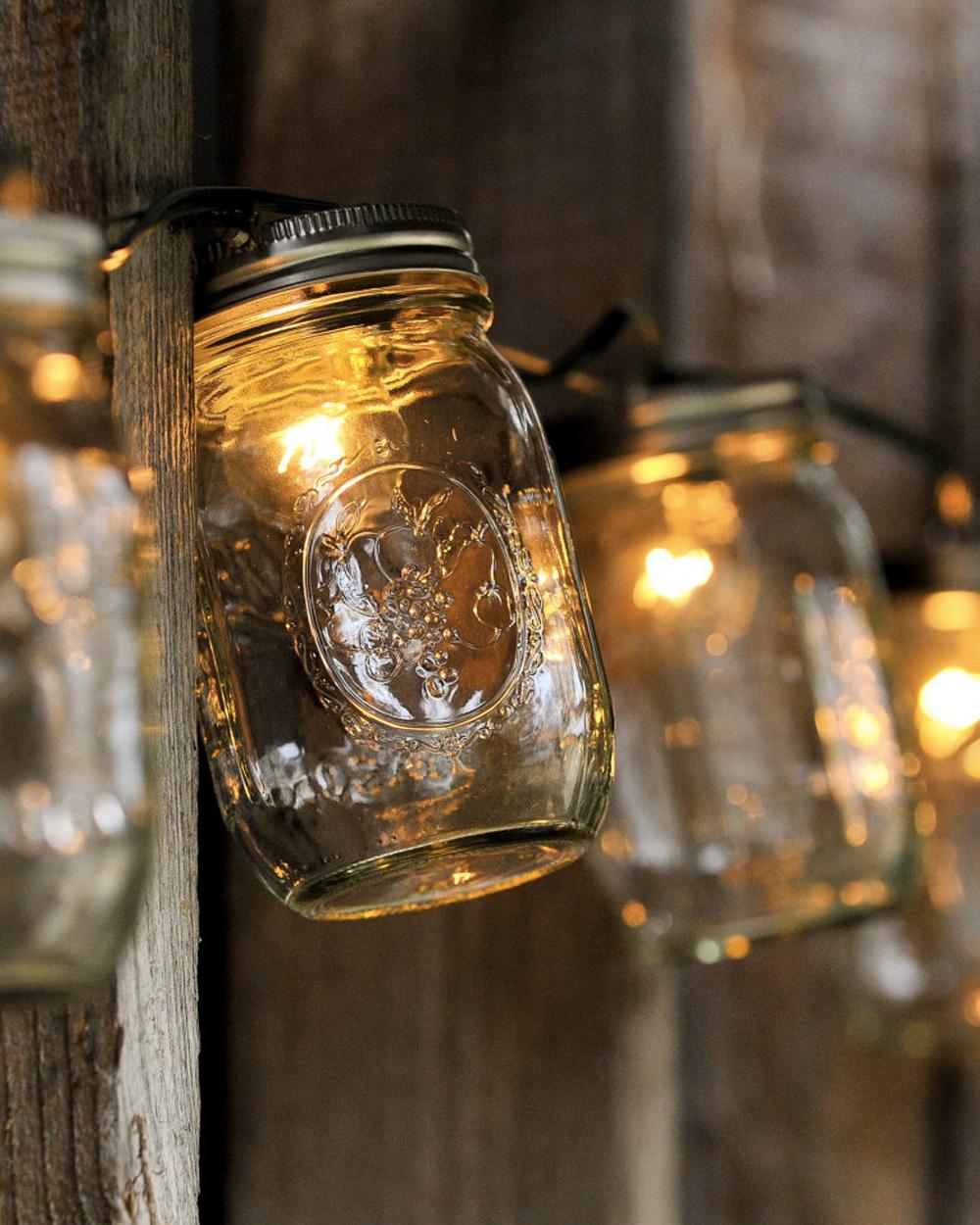 Guirlande lumineuse dans bocal