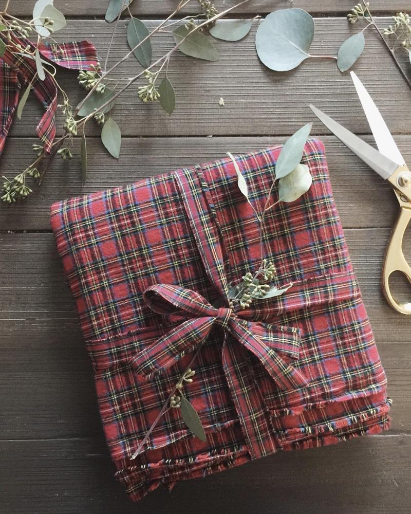 paquet cadeau noel tissu diy